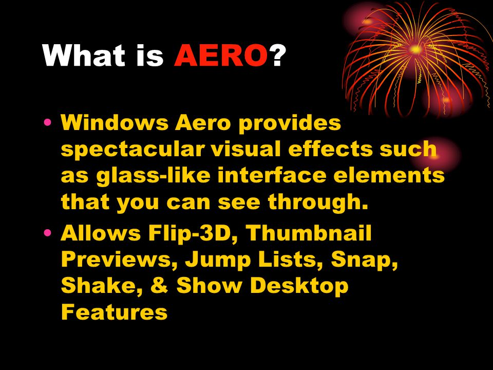 What is AERO.