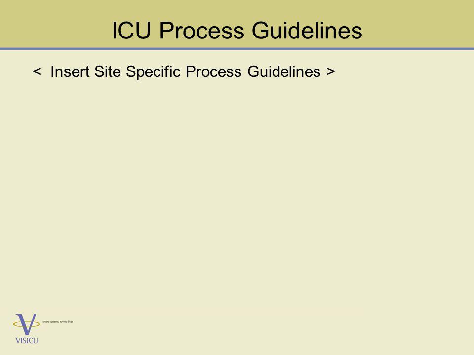 ICU Process Guidelines