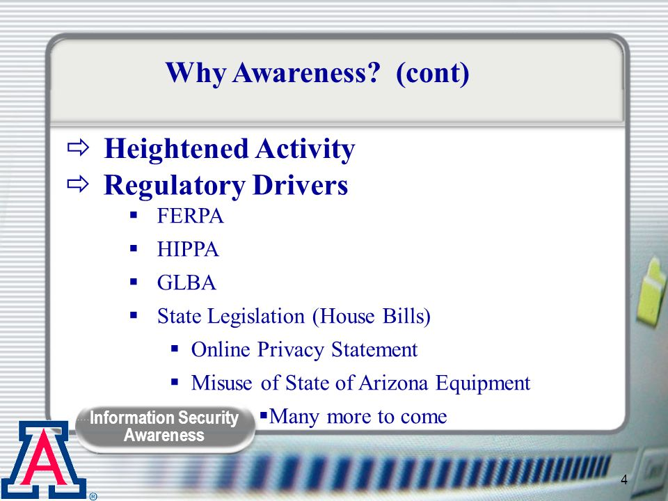 Information Security Awareness 45 Trojan Horse Program that appears to be a good program, but really isn't Might do what it is supposed to, plus a whole lot more.