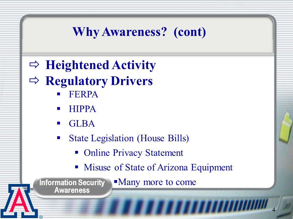 Information Security Awareness 5 Why Awareness.