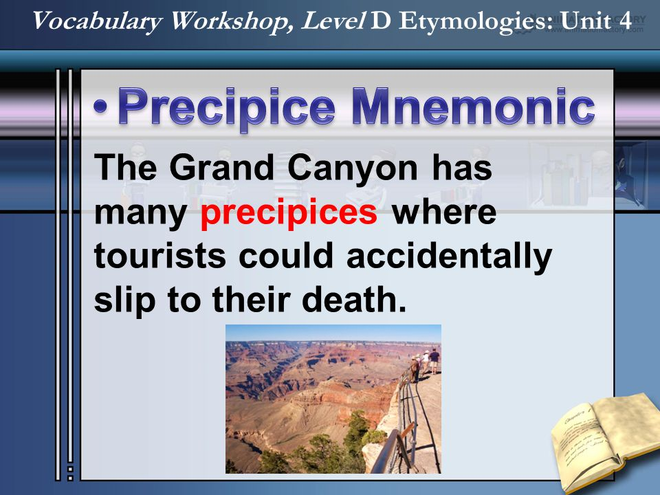The Grand Canyon has many precipices where tourists could accidentally slip to their death.