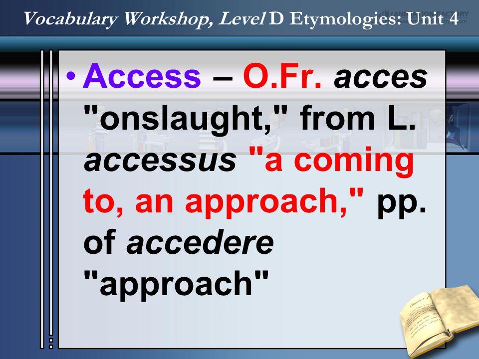 Access – O.Fr. acces