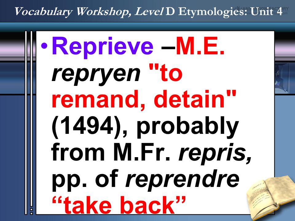 Reprieve –M.E. repryen