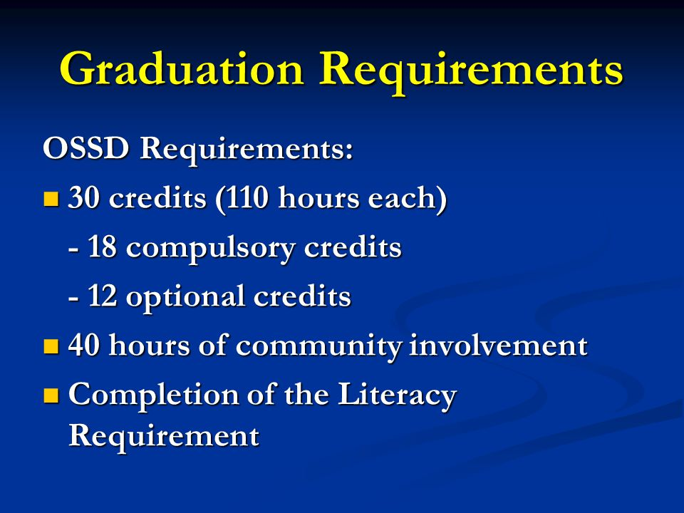 Community Service Hours Pupil# Compulsory Courses and Credit Completion Summary
