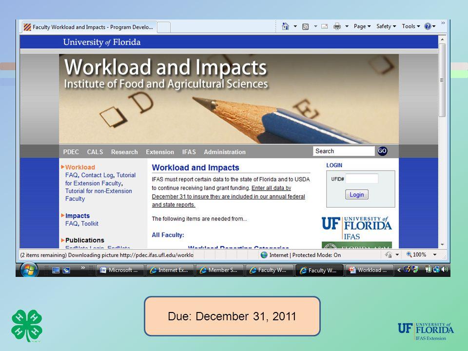 Due: December 31, 2011