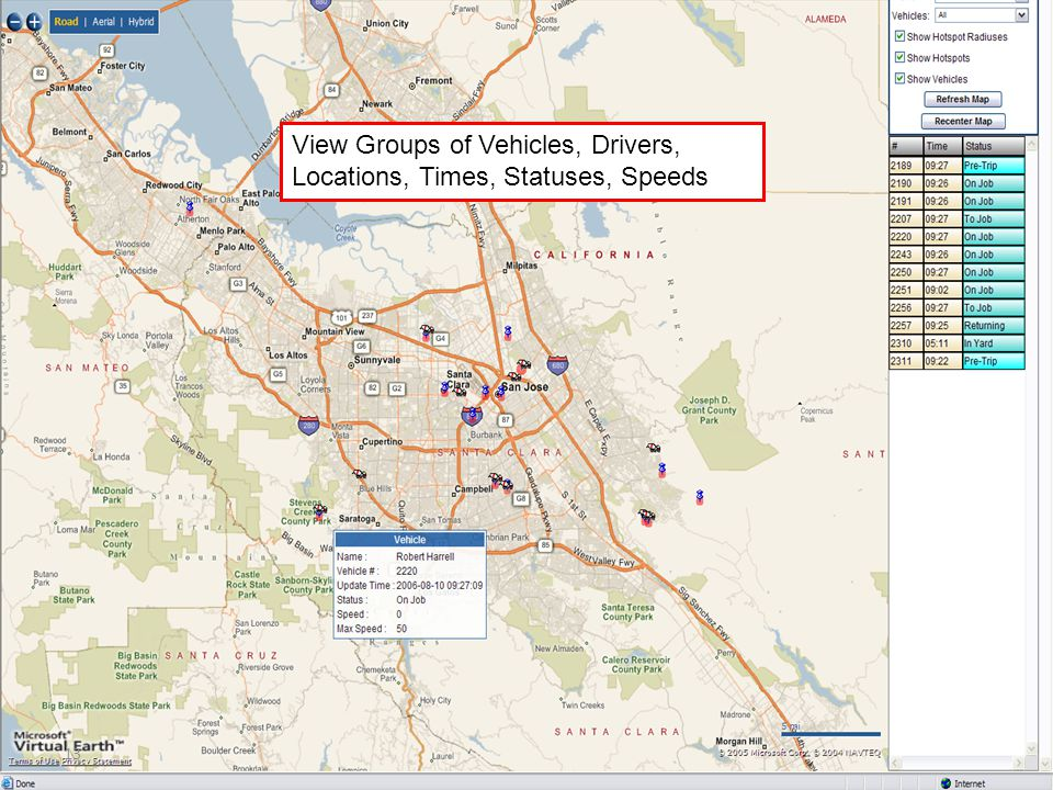 13 View Groups of Vehicles, Drivers, Locations, Times, Statuses, Speeds