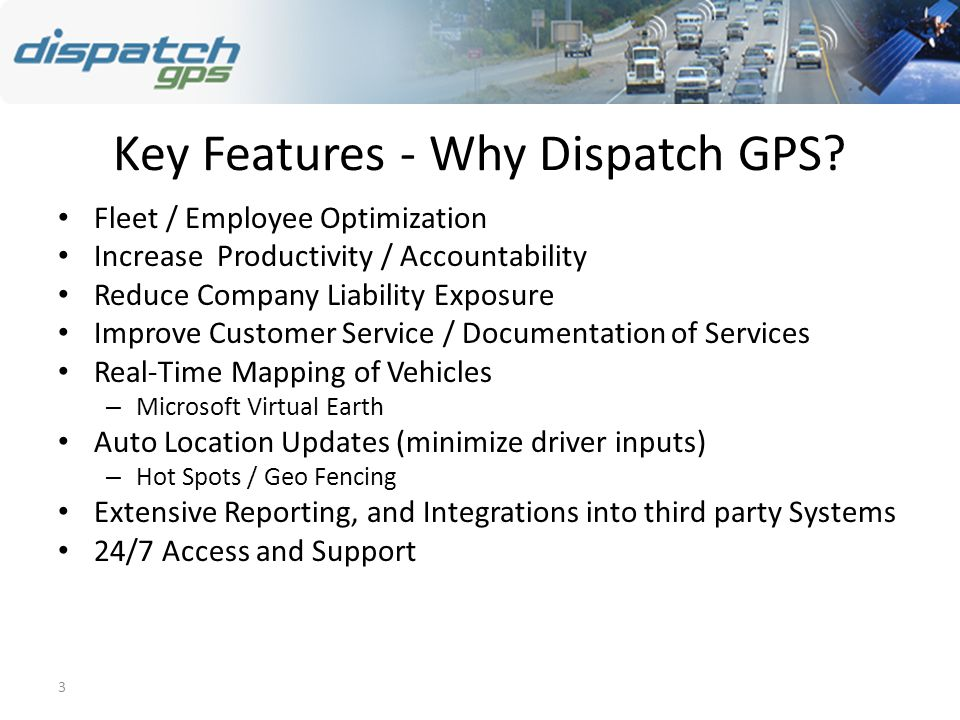 3 Key Features - Why Dispatch GPS.