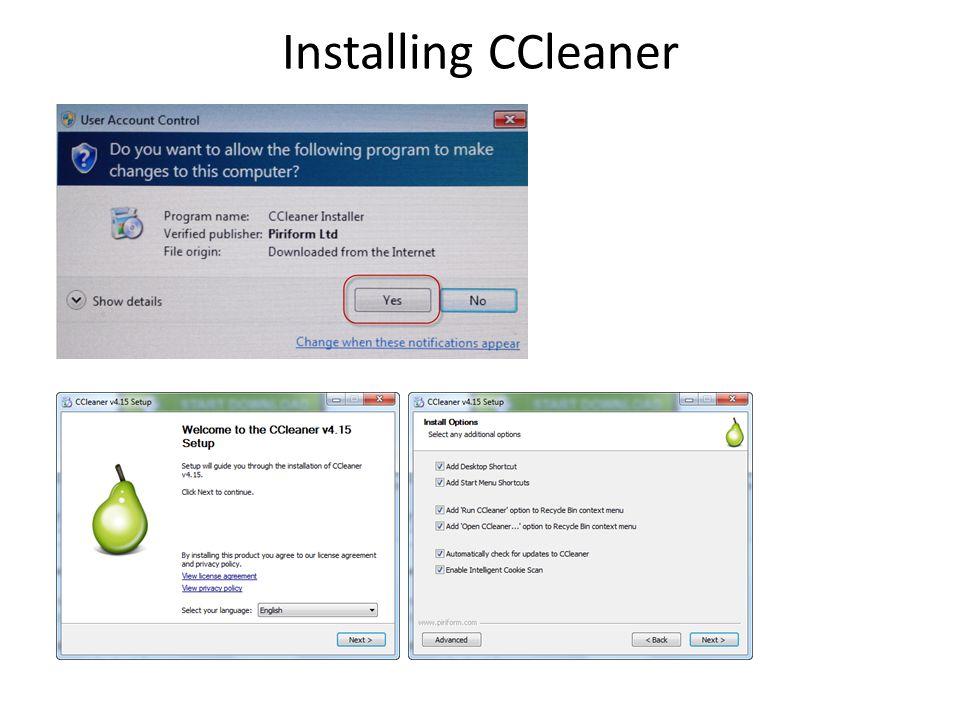 Installing CCleaner