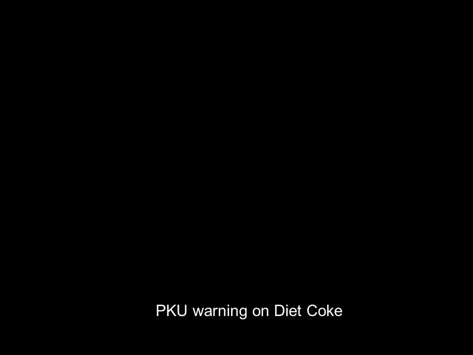 PKU warning on Diet Coke