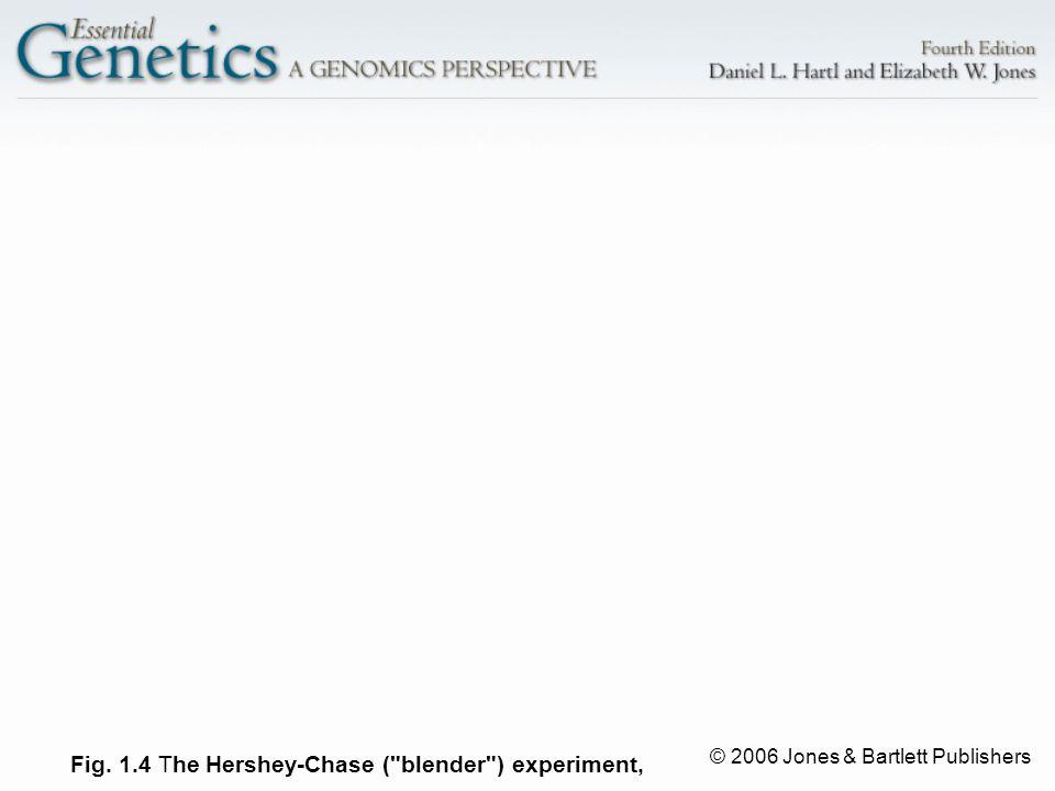 © 2006 Jones & Bartlett Publishers Fig. 1.4 T he Hershey-Chase (