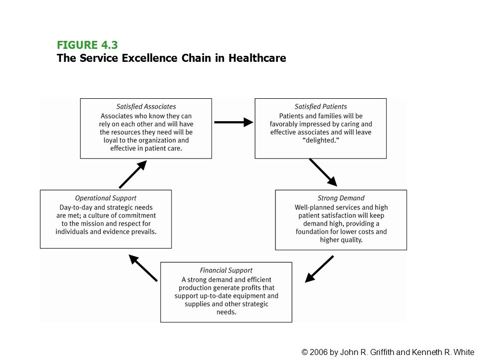 FIGURE 4.3 The Service Excellence Chain in Healthcare