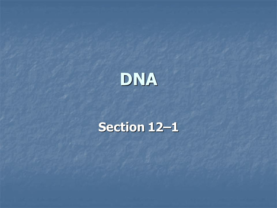 DNA Section 12–1