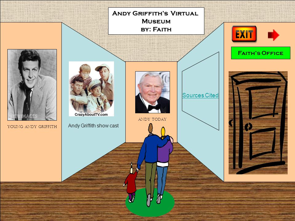 Andy Griffith show cast Faith's Office Andy Griffith's Virtual Museum by: Faith Young Andy Griffith Andy today Sources Cited