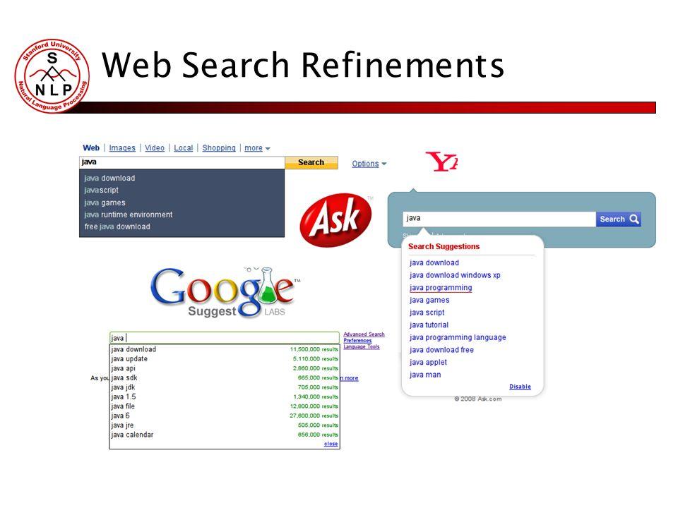Web Search Refinements