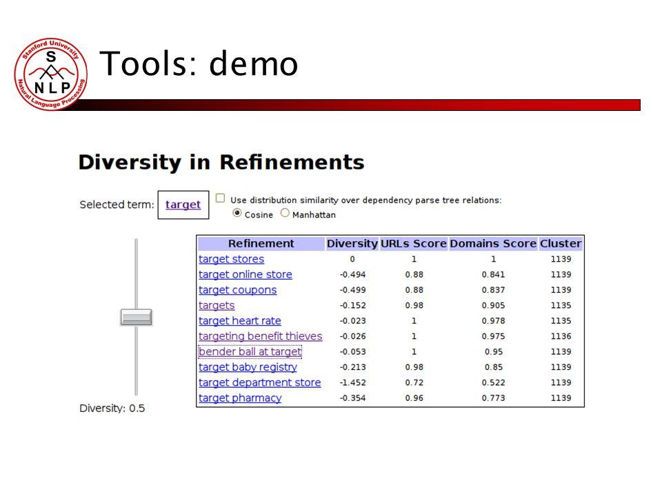 Tools: demo