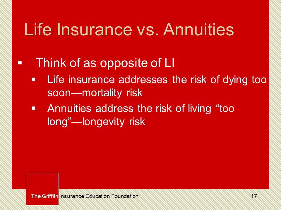 17 Life Insurance vs.