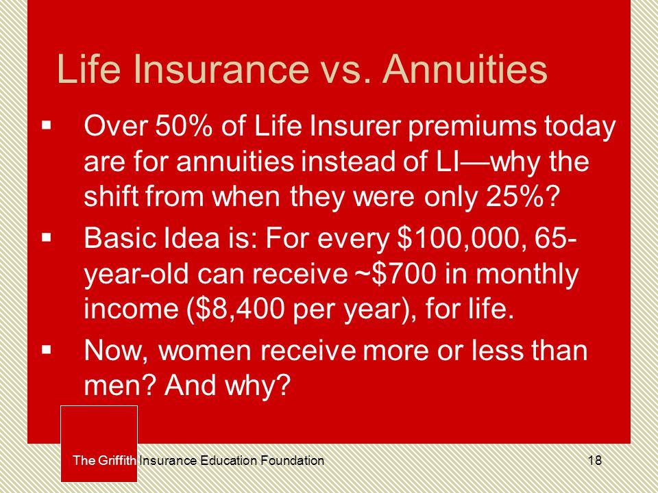 18 Life Insurance vs.