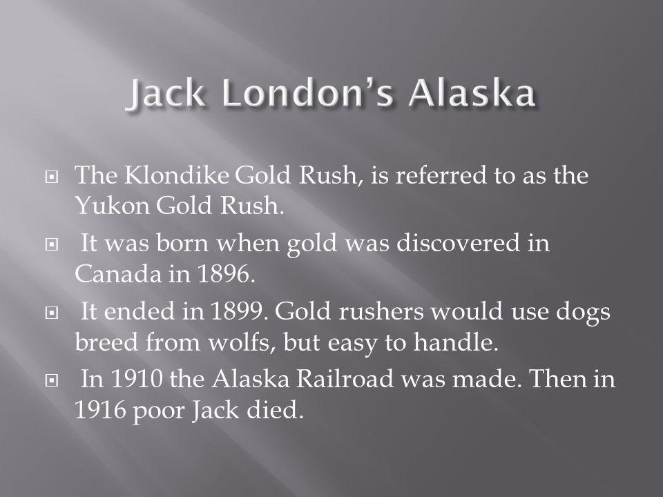  The Klondike Gold Rush, is referred to as the Yukon Gold Rush.