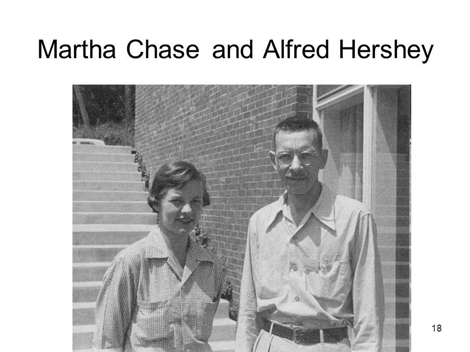18 Martha Chase and Alfred Hershey