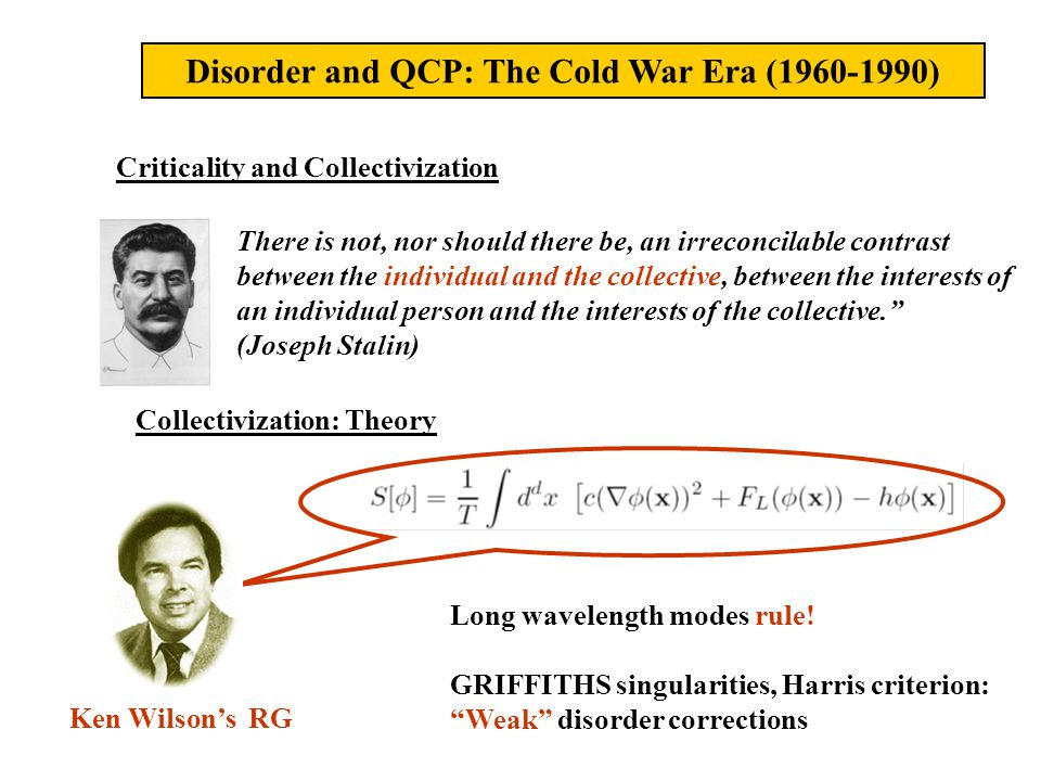 Trouble Starts (circa 1990) Dissidents run away over the Berlin Wall Weak coupling RG finds run away flows for QCPs with disorder (Sachdev,...,Vojta,...)
