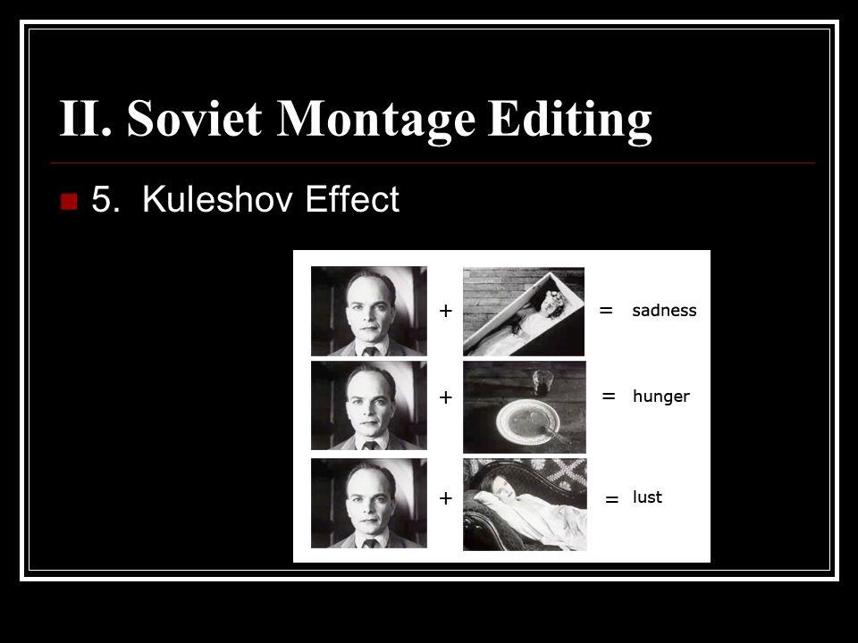 II. Soviet Montage Editing 5. Kuleshov Effect