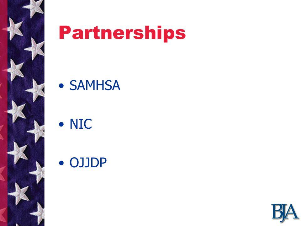 Partnerships SAMHSA NIC OJJDP