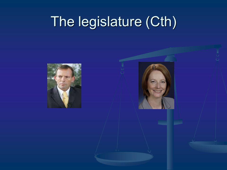 The legislature (Cth)