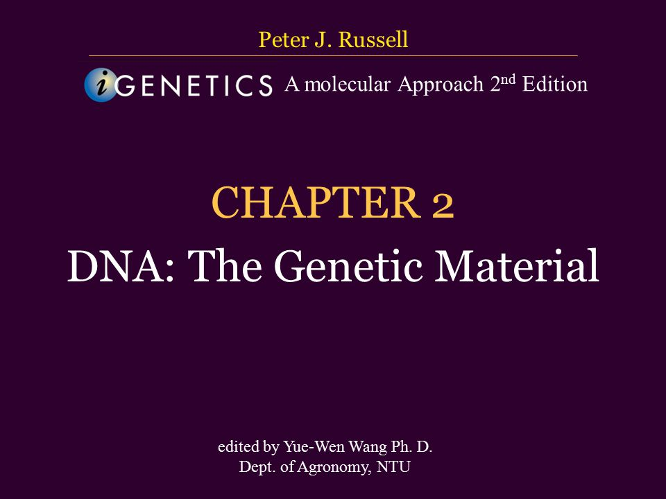 台大農藝系 遺傳學 601 20000 Chapter 2 slide 62 Unique-Sequence and Repetitive-Sequence DNA 1.