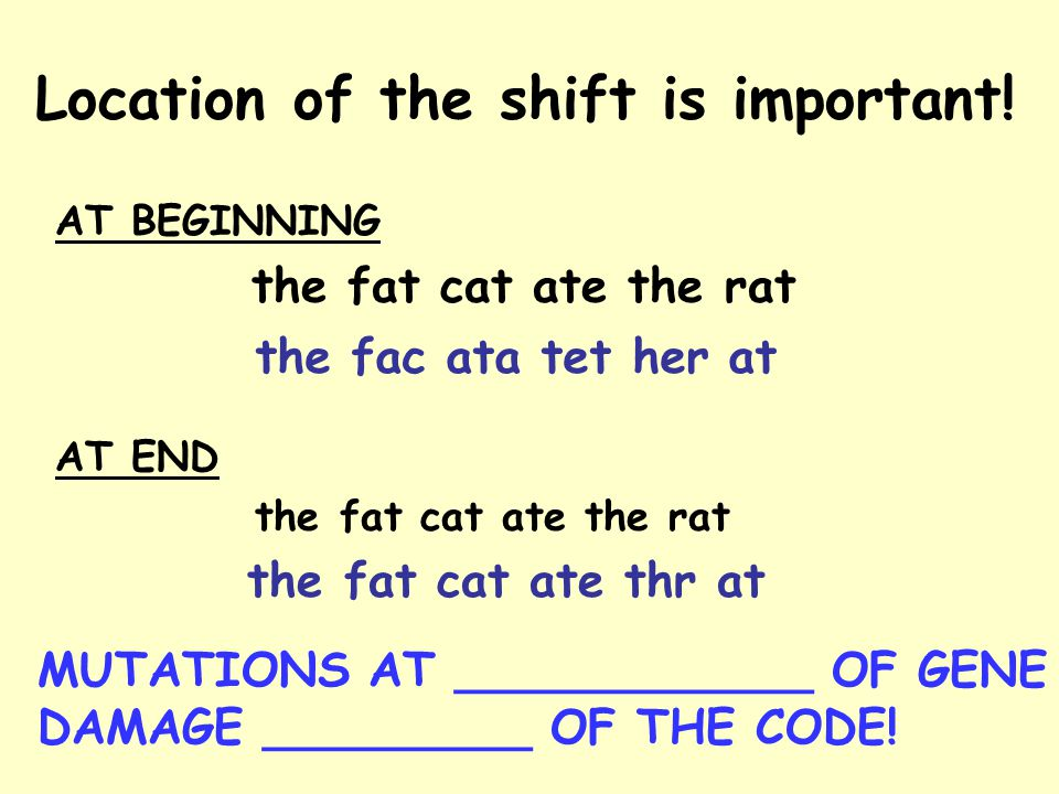 Location of the shift is important.