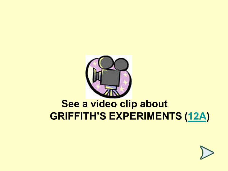 See a video clip about GRIFFITH'S EXPERIMENTS (12A)12A