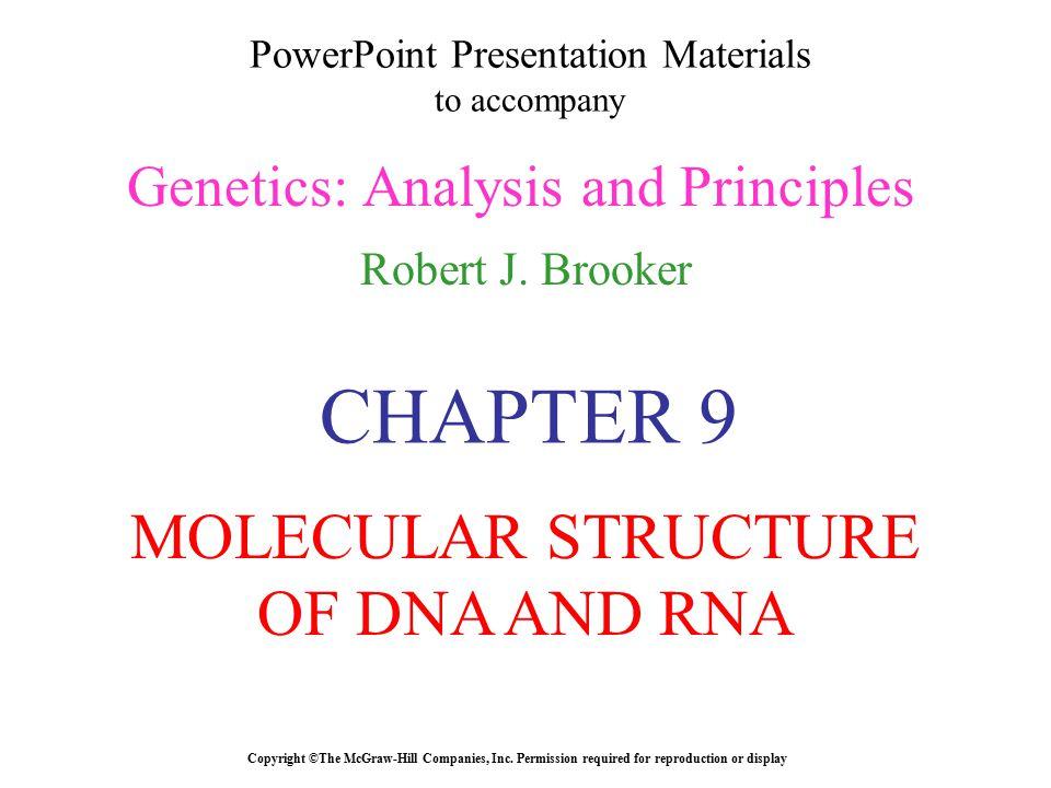 PowerPoint Presentation Materials to accompany Genetics: Analysis and Principles Robert J.