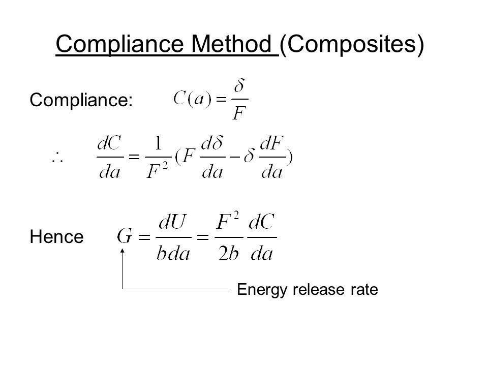 Compliance: Hence Energy release rate Compliance Method (Composites)