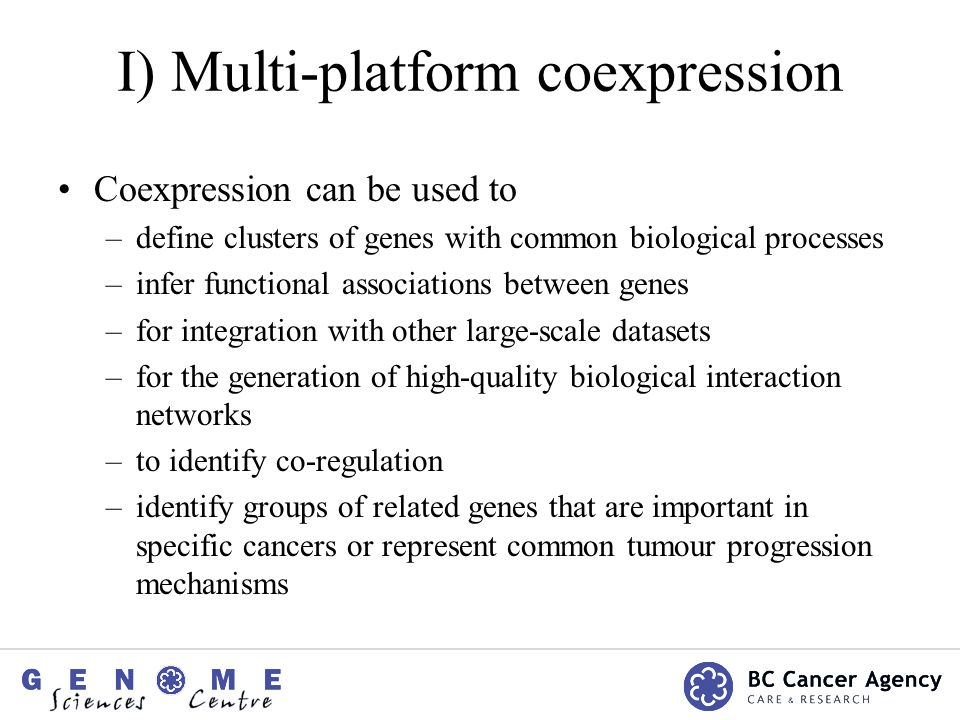 Differential coexpression analysis Expression Data Singh et al (2002) 52 prostate tumor 50 normal prostate Affymetrix U95Av2 ~12,500 genes