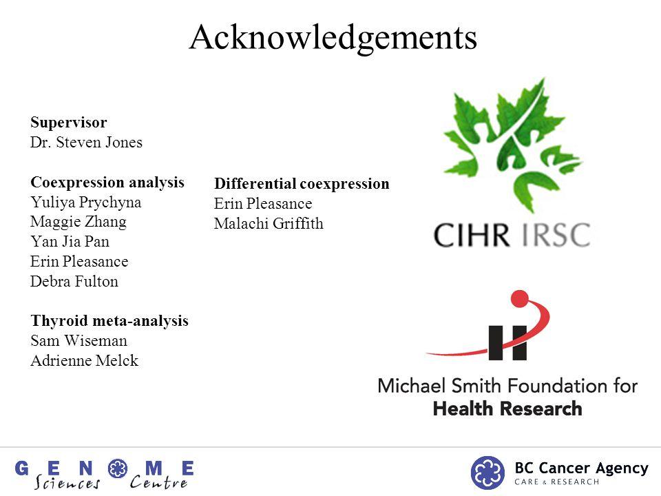 Acknowledgements Supervisor Dr.