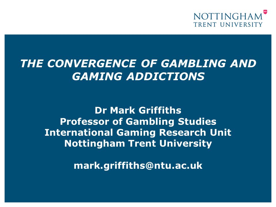 INTERNET GAMBLING AND PROBLEM GAMBLING (Griffiths & Auer, 2011; Kuss & Griffiths, 2012) A number of empirical studies have reported that problem gambling is more prevalent among internet gamblers than non-internet gamblers Only one study has been published that compared internet gamblers and non-internet gamblers using a nationally representative sample Griffiths et al (2009) DSM-IV scores showed that problem gambling prevalence rate was significantly higher among Internet gamblers than non-Internet gamblers (5% vs 0.5%) 21/04/201512
