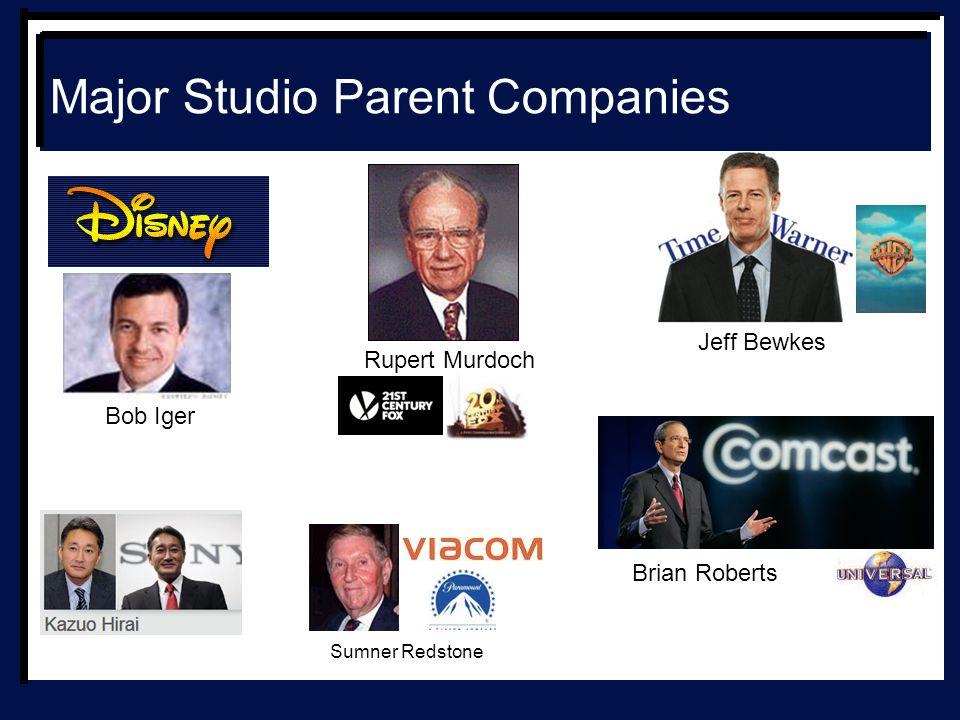 Major Studio Parent Companies Bob Iger Jeff Bewkes Brian Roberts Rupert Murdoch Sumner Redstone