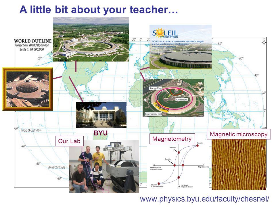 BYU A little bit about your teacher… MagnetometryMagnetic microscopyOur Lab www.physics.byu.edu/faculty/chesnel/