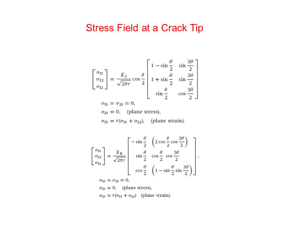 Stress Field at a Crack Tip