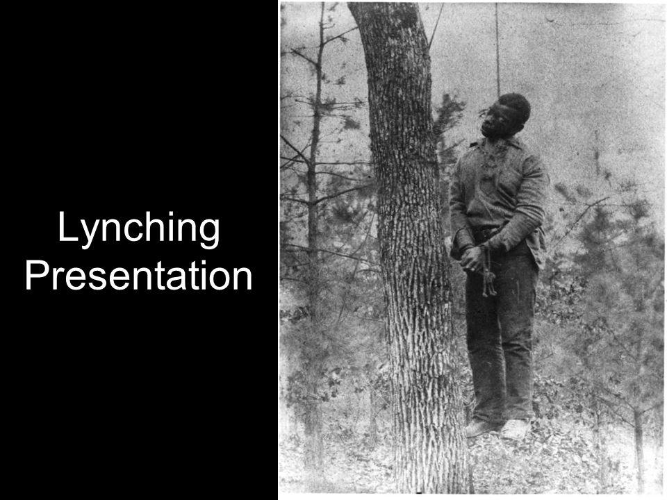 Lynching Presentation