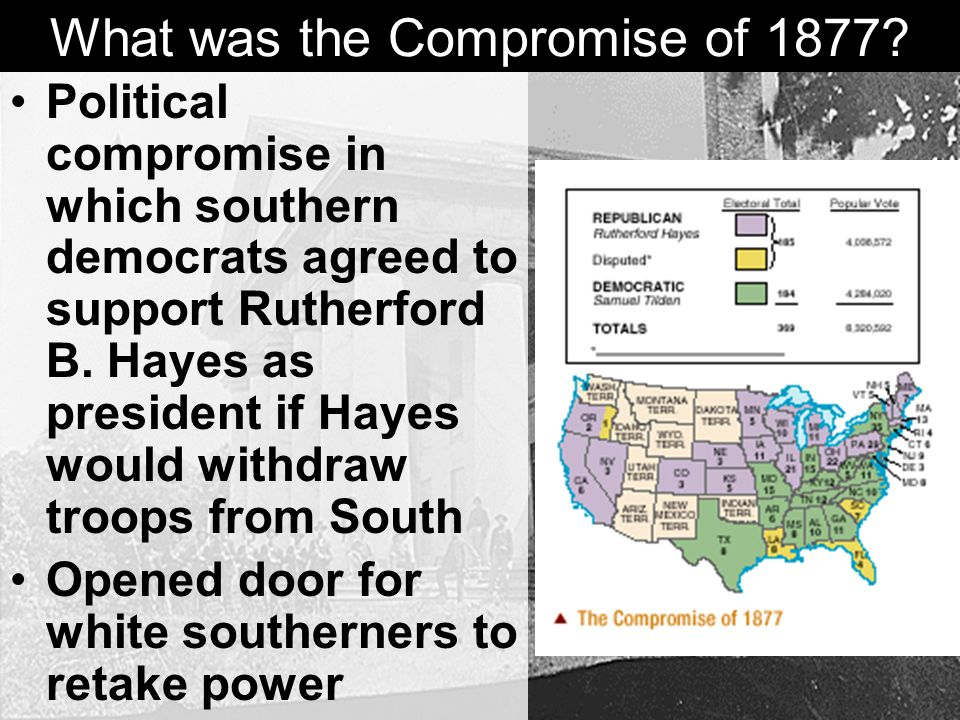 What was the Compromise of 1877.