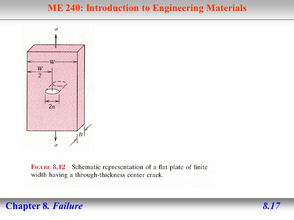 ME 240: Introduction to Engineering Materials Chapter 8. Failure 8.17
