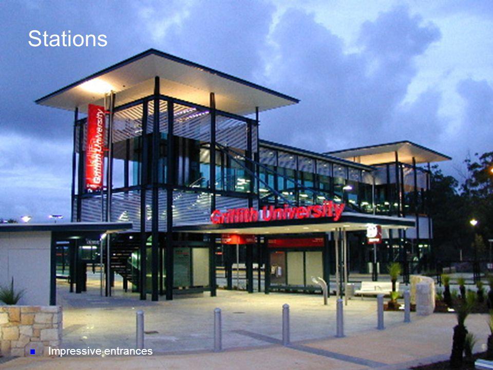 n Impressive entrances Stations
