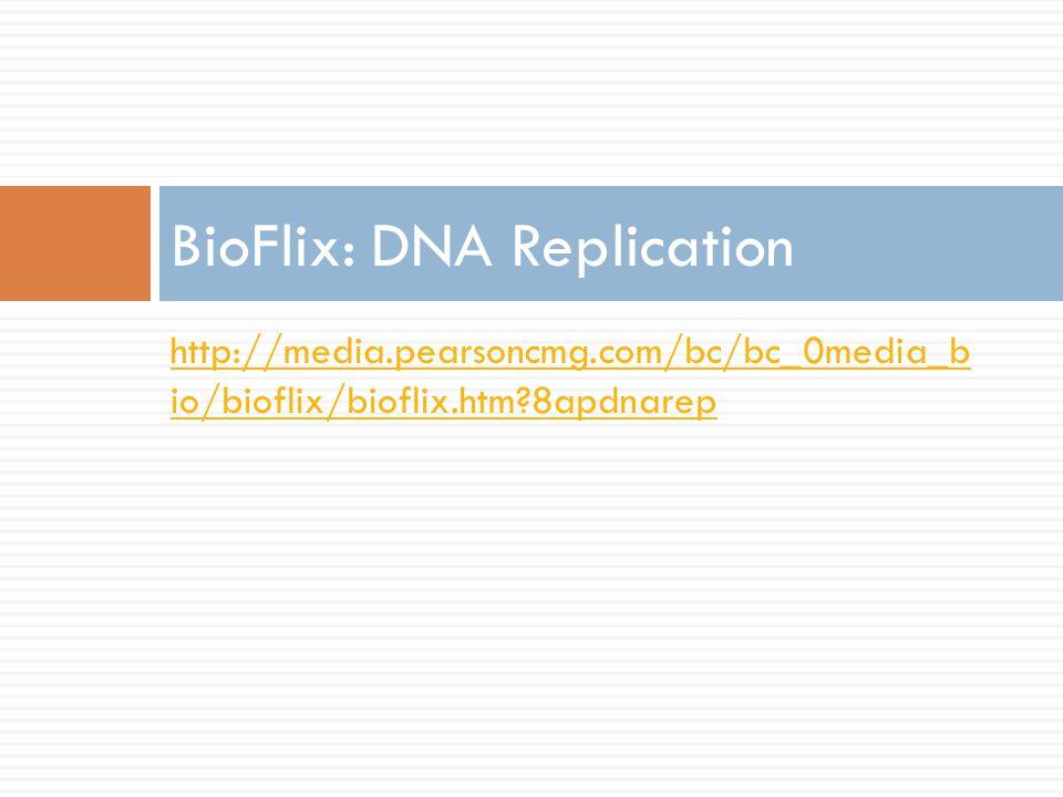 http://media.pearsoncmg.com/bc/bc_0media_b io/bioflix/bioflix.htm 8apdnarep BioFlix: DNA Replication