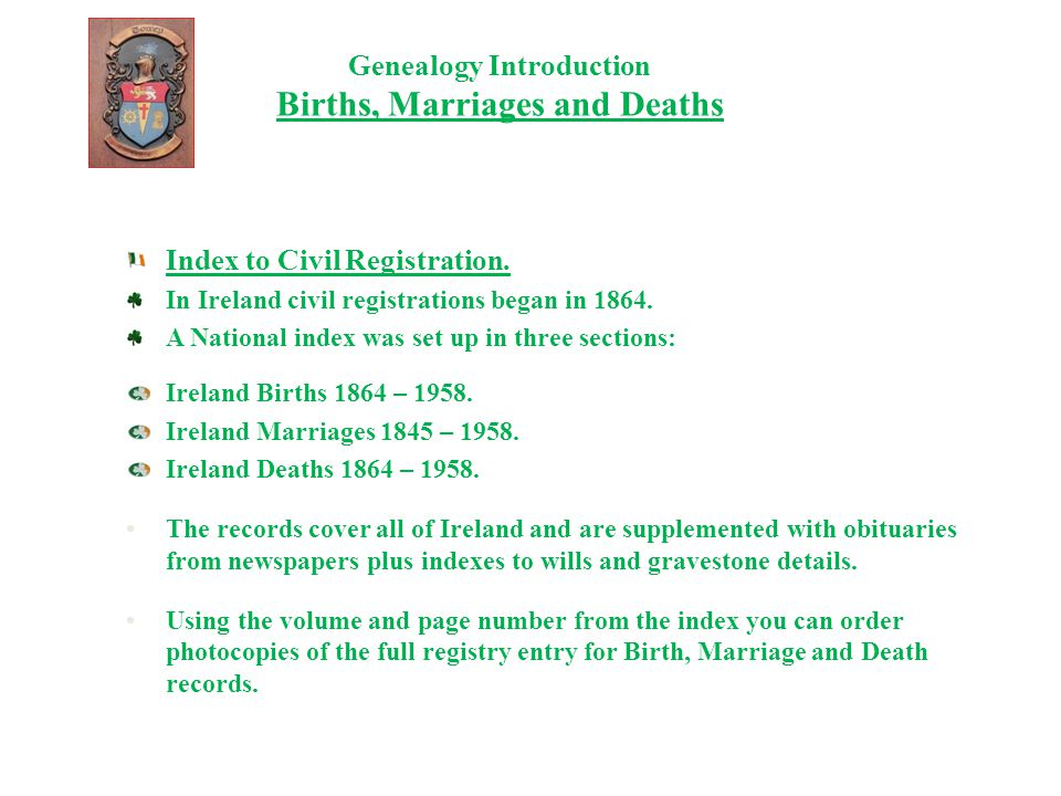 Genealogy Introduction Census Records Ireland's complete census are currently available for 1901 and 1911.