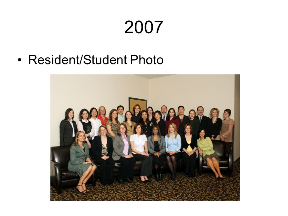 2007 Resident/Student Photo