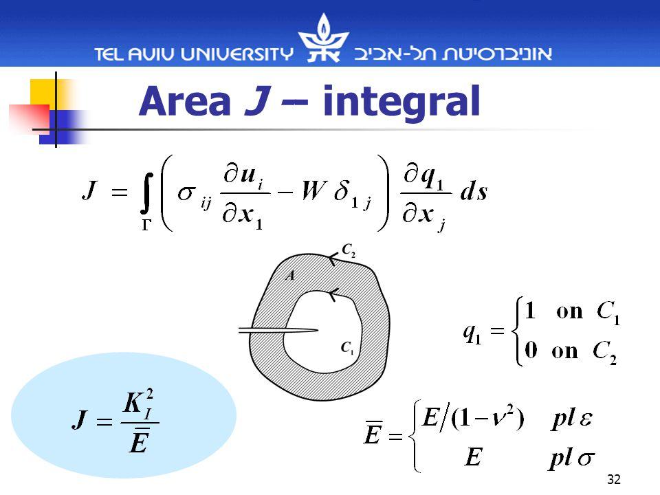 32 Area J -- integral