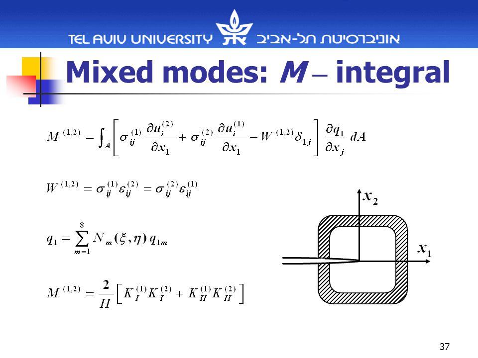 37 Mixed modes: M – integral