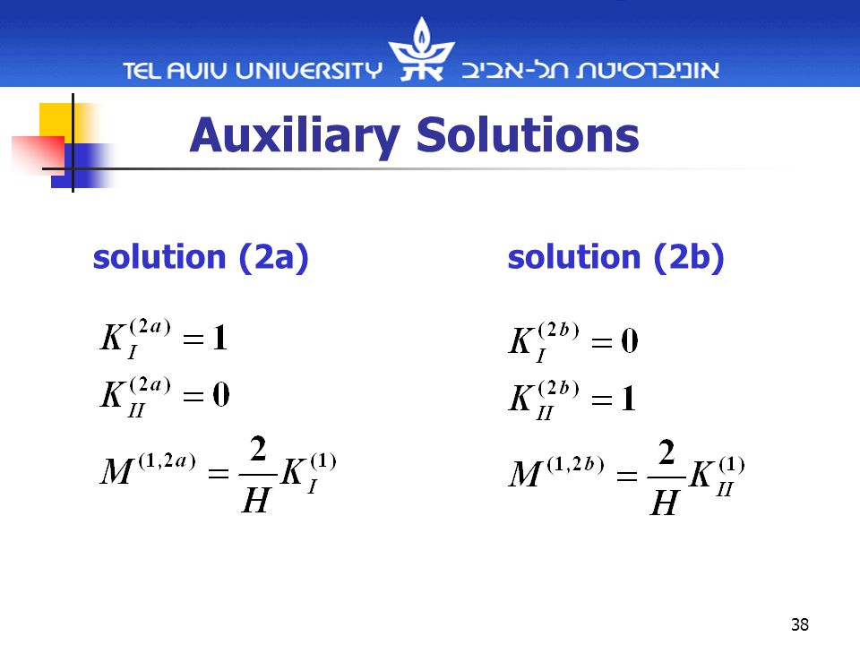 38 Auxiliary Solutions solution (2a)solution (2b)