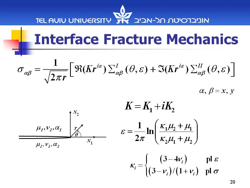39 Interface Fracture Mechanics
