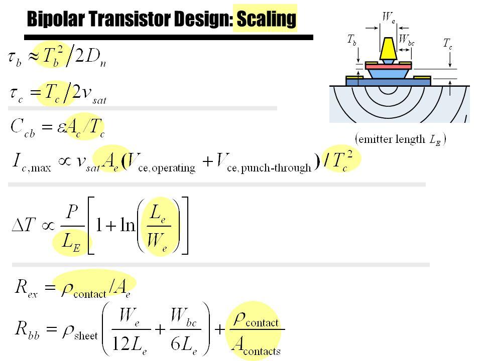 Bipolar Transistor Design: Scaling
